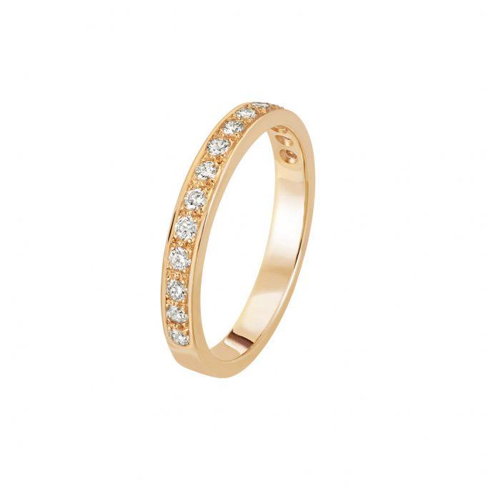 Bague L'Éternelle 2,5 mm en or rose 18k et diamants