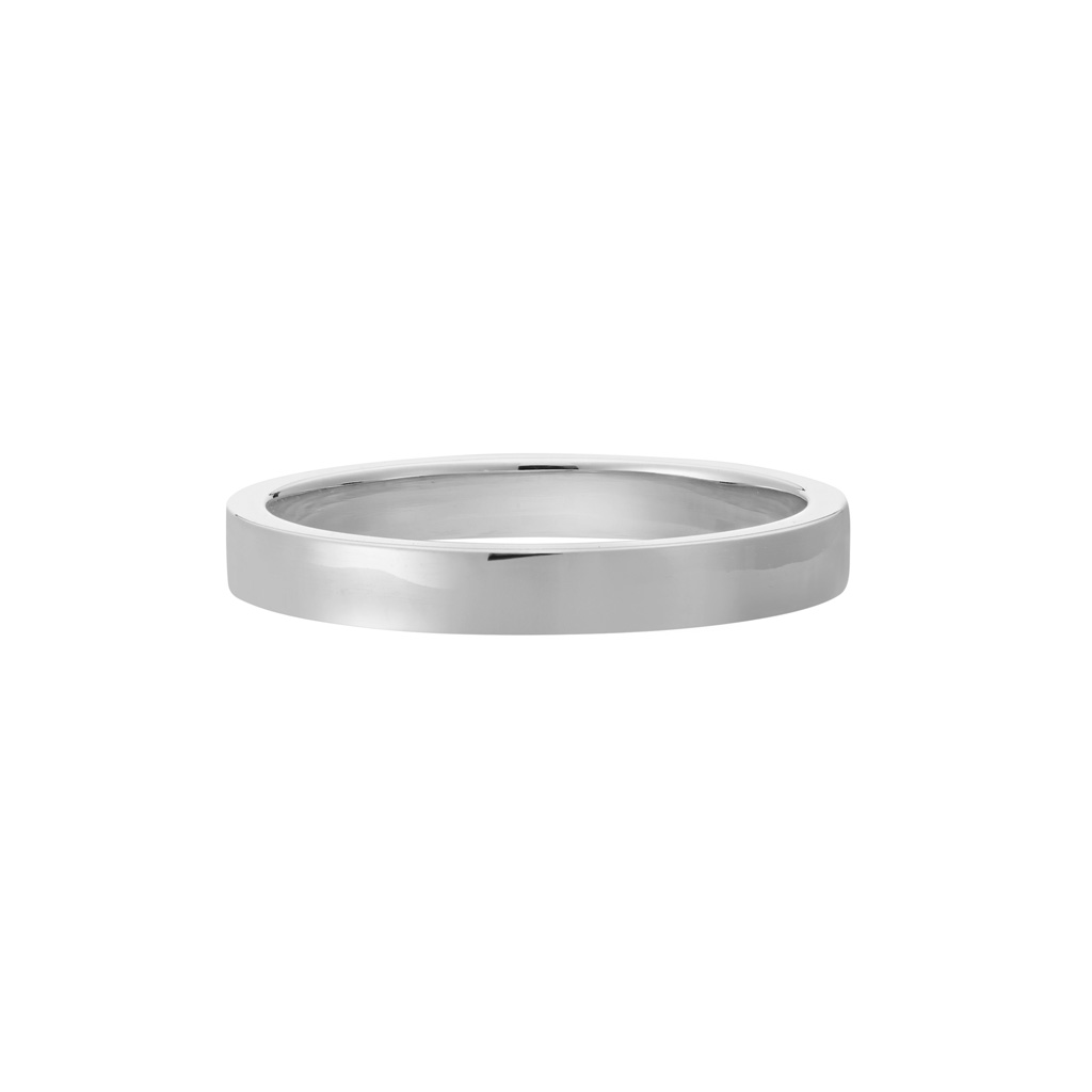 Vue Face - Bague La Contemporaine en or gris palladié 18k 2,5mm