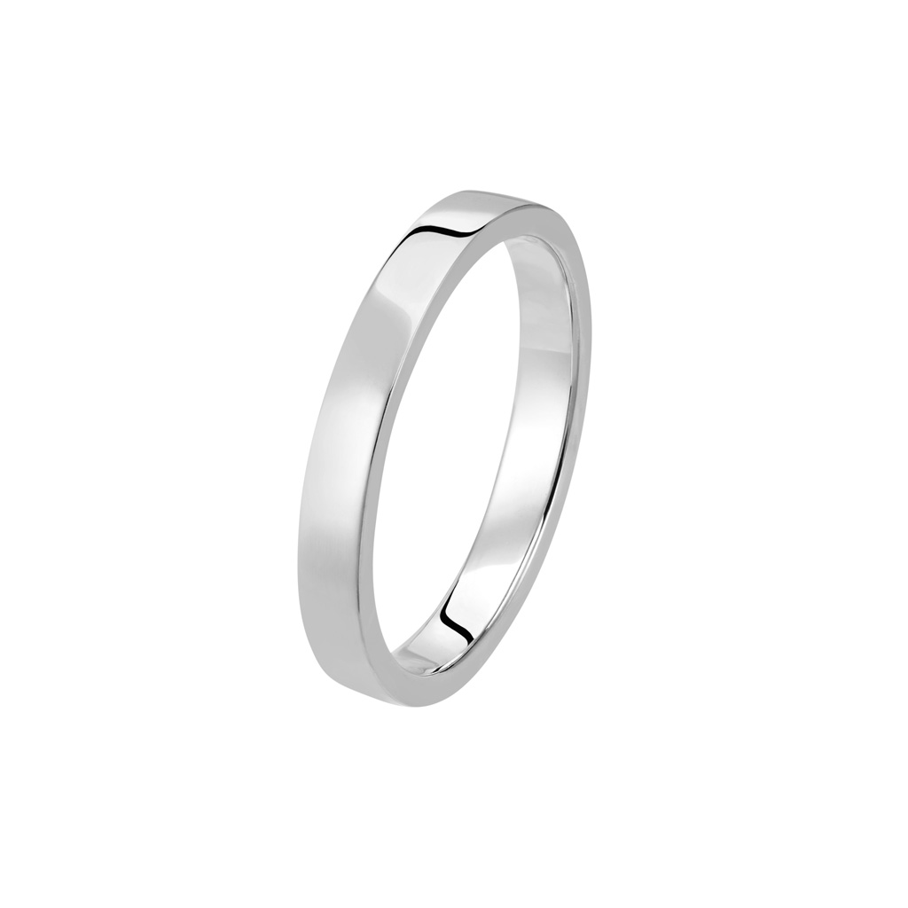 Bague La Contemporaine en or gris palladié 18k 2,5mm