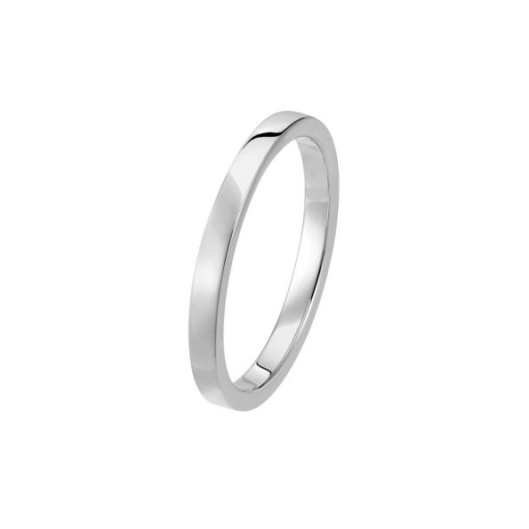 Bague La Contemporaine en or gris palladié 18k 2mm