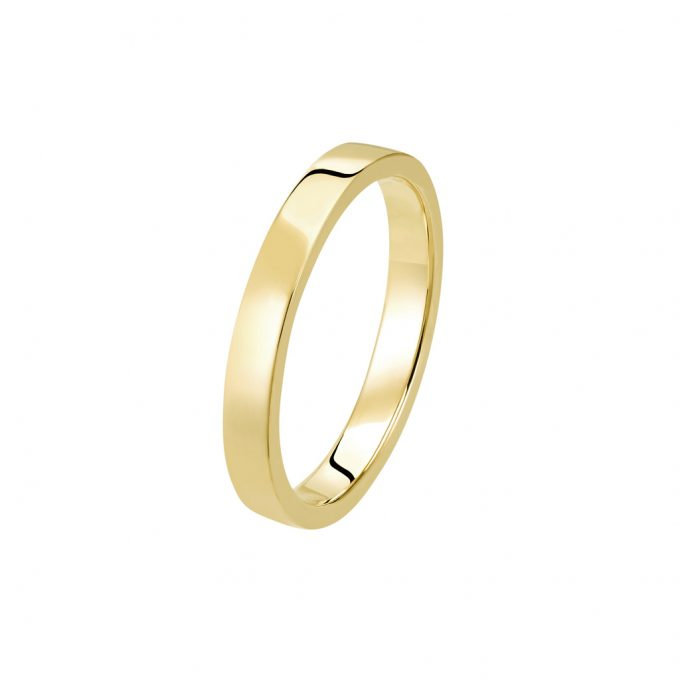 Bague La Contemporaine en or jaune 18k 2,5mm