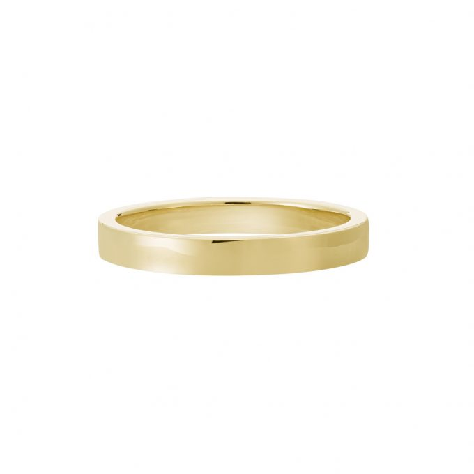 Vue Face - Bague La Contemporaine en or jaune 18k 2,5mm