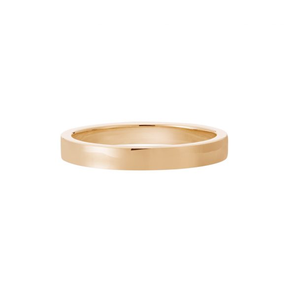 Vue Face - Bague La Contemporaine en or rose 18k 2,5mm
