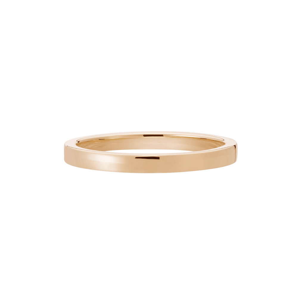 Vue Face - Bague La Contemporaine en or rose 18k 2mm