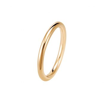 Bague La Jeanette en or rose 18k 2mm