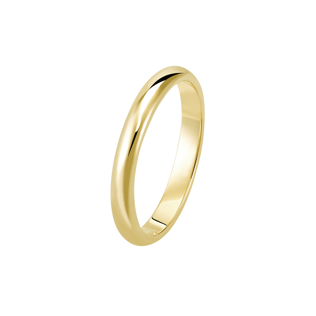 Bague La Parisienne en or jaune 18k 2,5mm