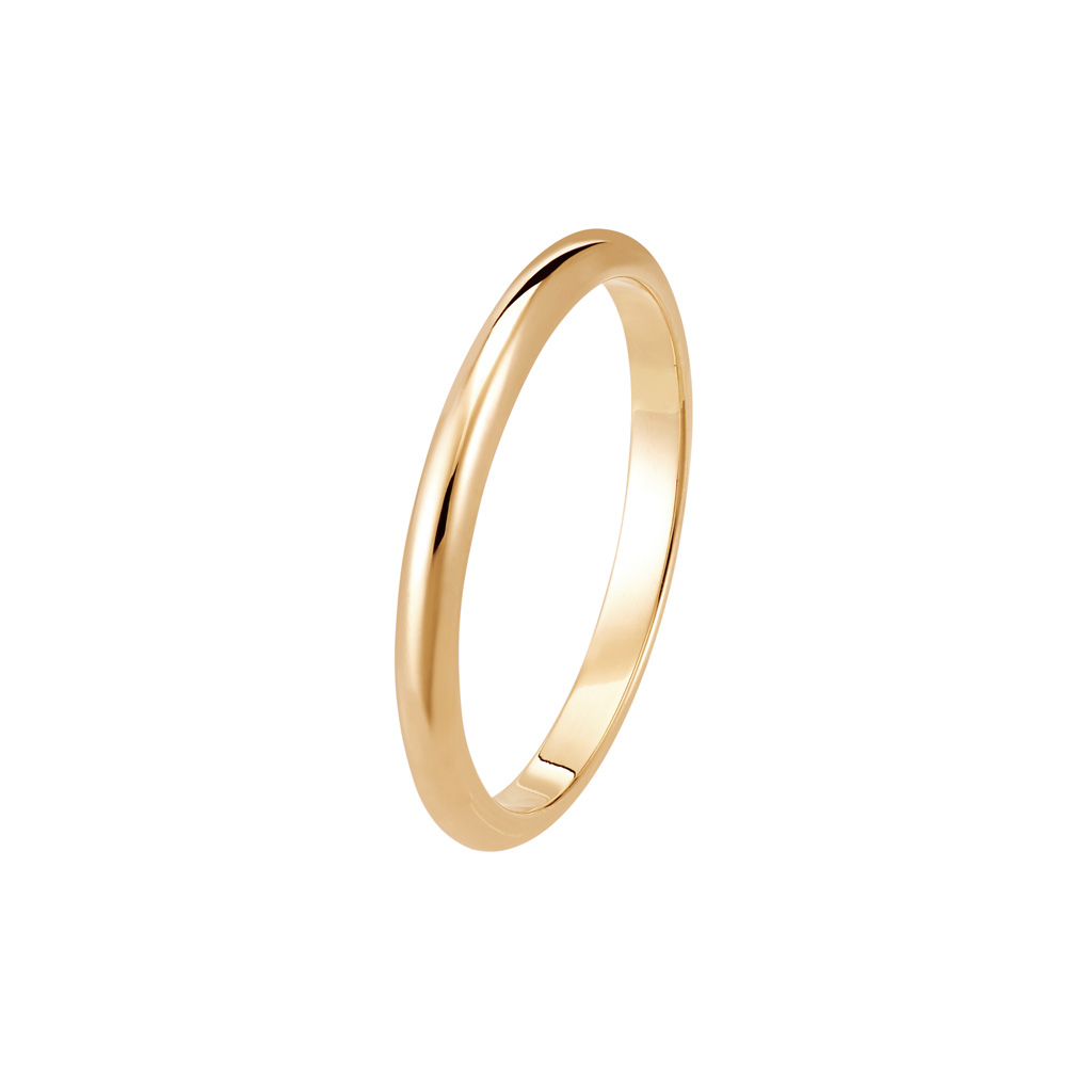 Bague La Parisienne en or rose 18k 2mm