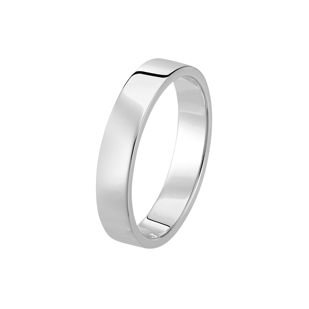 Bague Le Contemporain en or gris palladié 18k 4mm