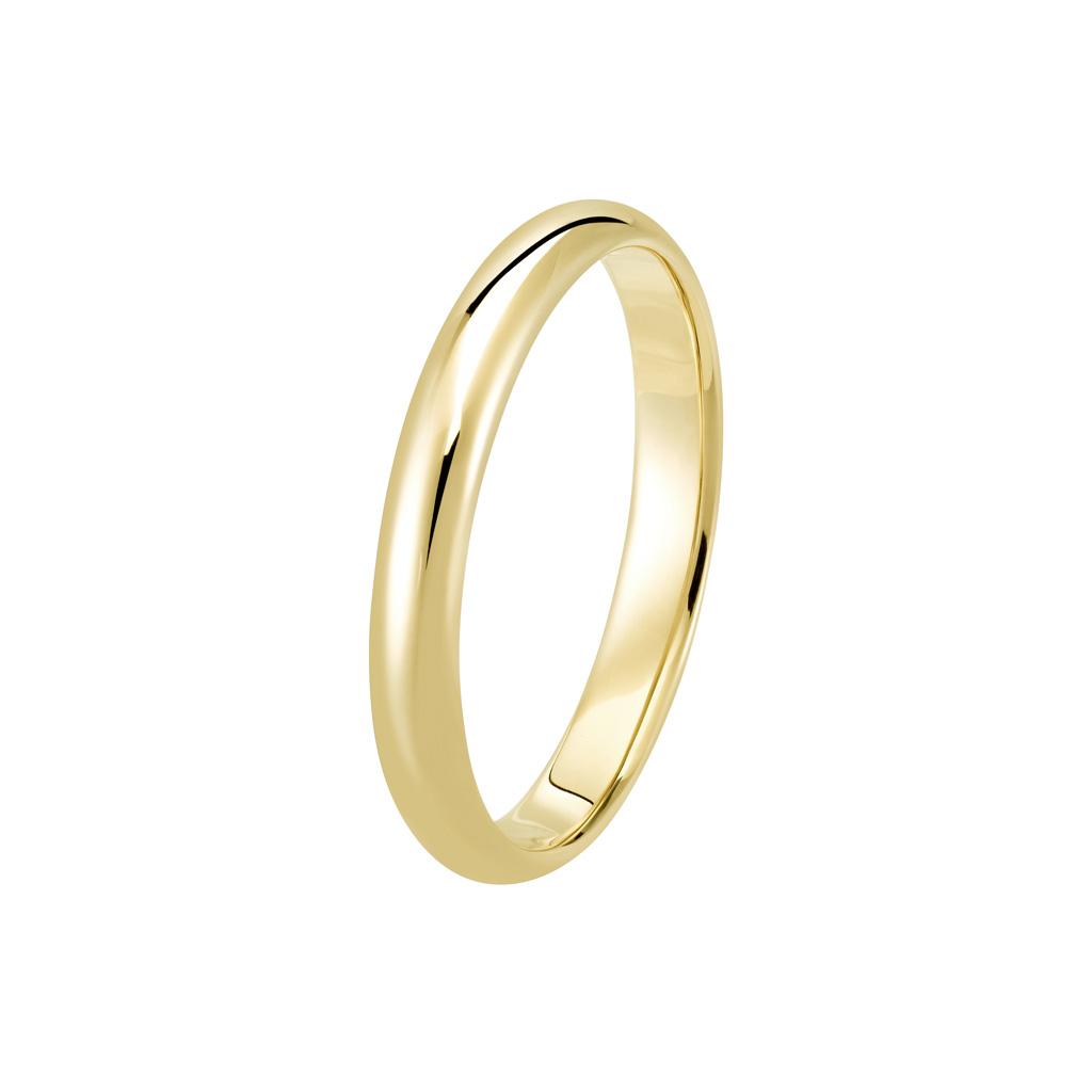 Bague Le Parisien en or jaune 18k 3mm