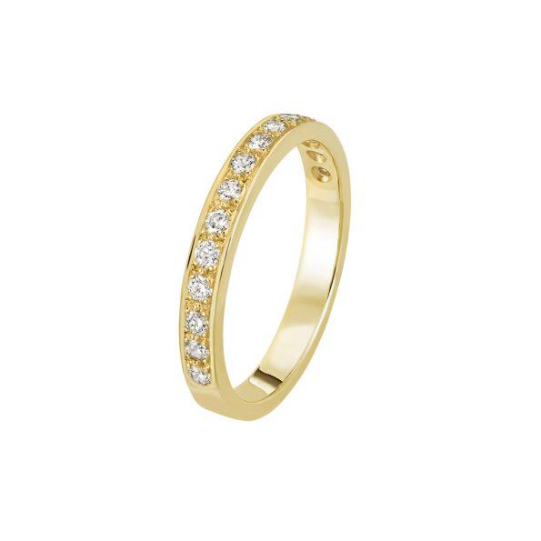 Bague L'Éternelle 2,5 mm en or jaune 18k et diamants