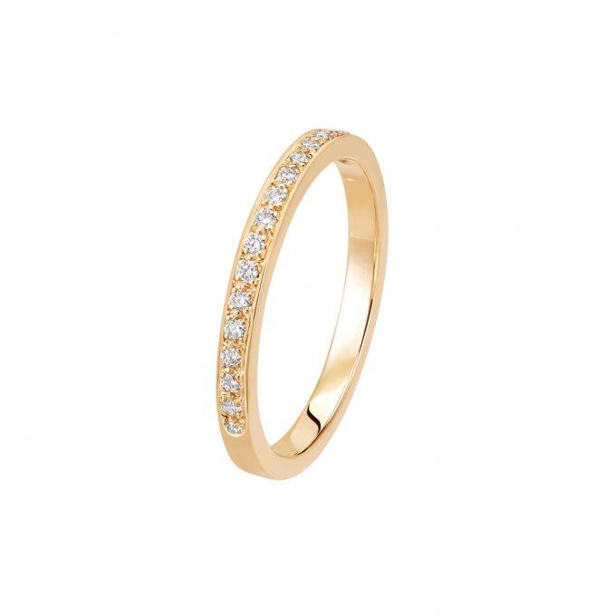 Bague L'Éternelle 2 mm en or rose 18k et diamants