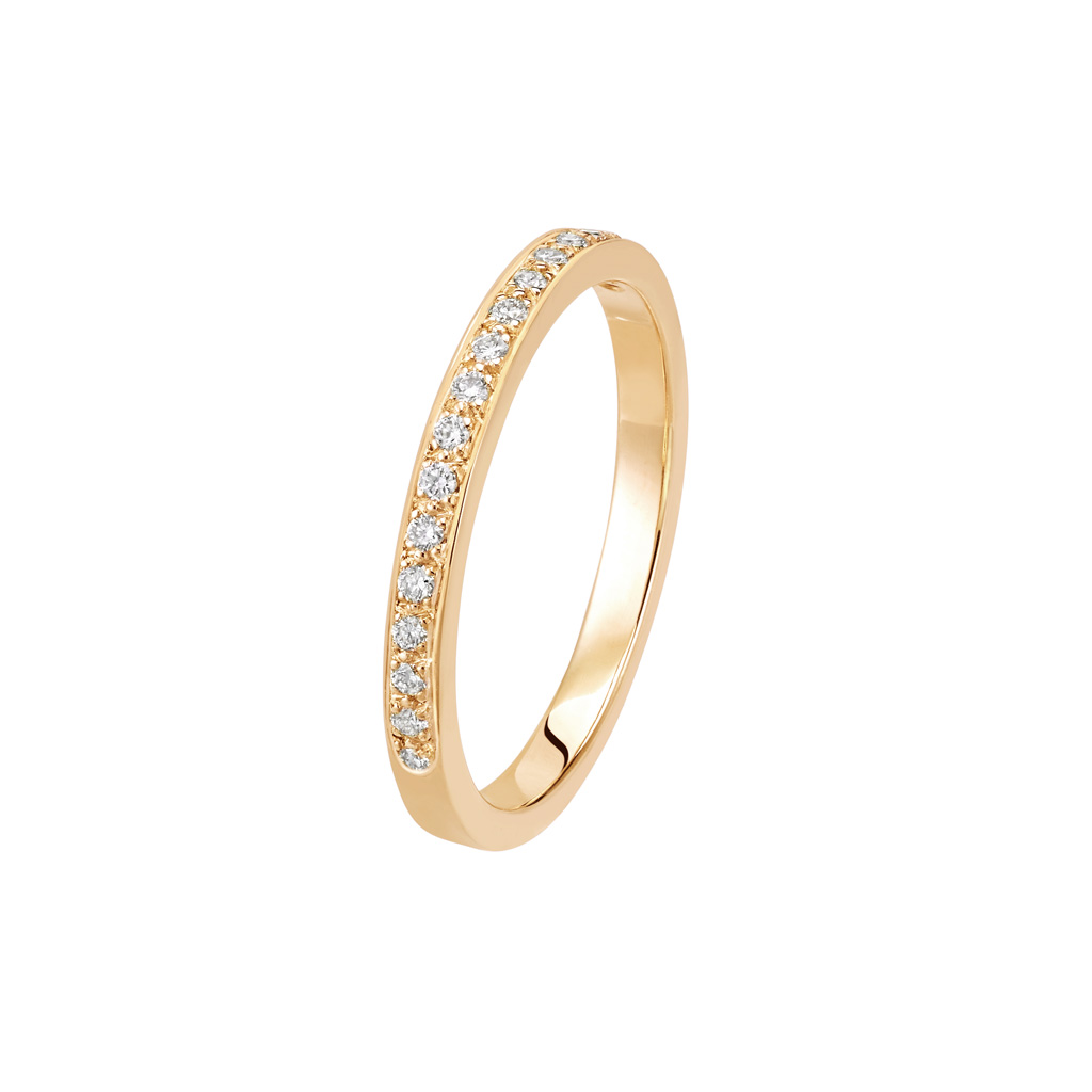 Bague L'Éternelle 2 mm en or rose 18k et diamants