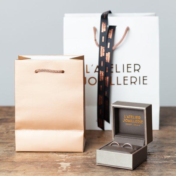 Écrin à bijoux de l'Atelier Joaillerie à Rennes