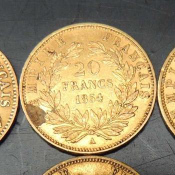 Pièces 20 francs en or